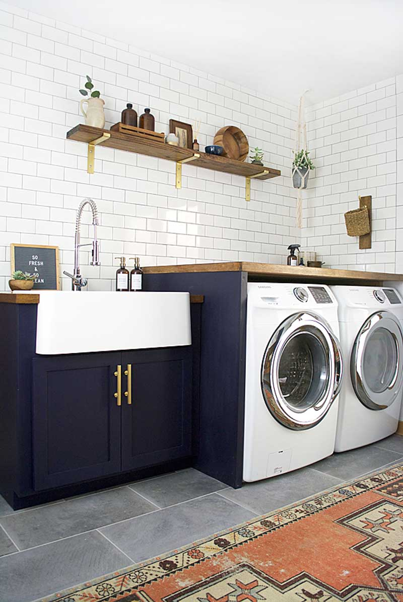 Navy Modern Laundry Room By Bre Purposed
