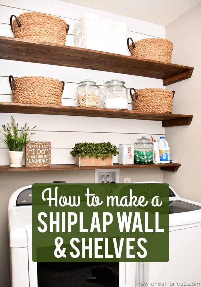 How to make a shiplap wall and shelves