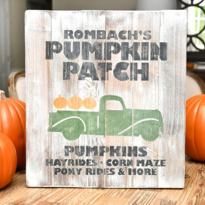 Pumpkin Patch Sign & Printable