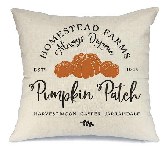 pumpkin patch pillow cover