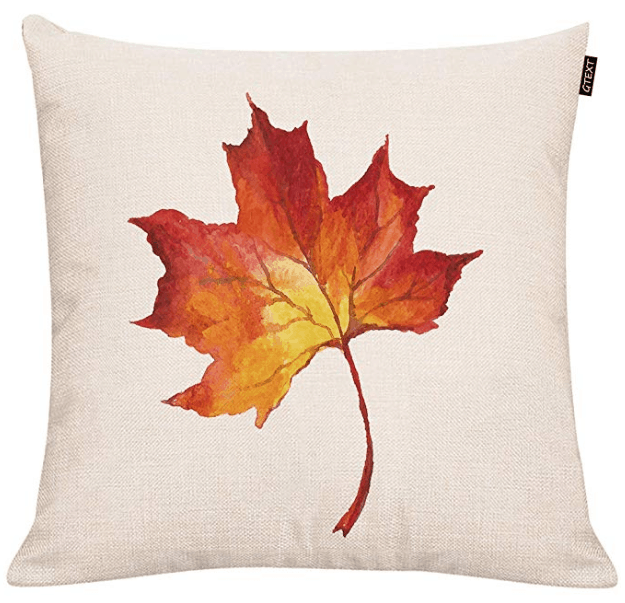 fall leaf pillow cover