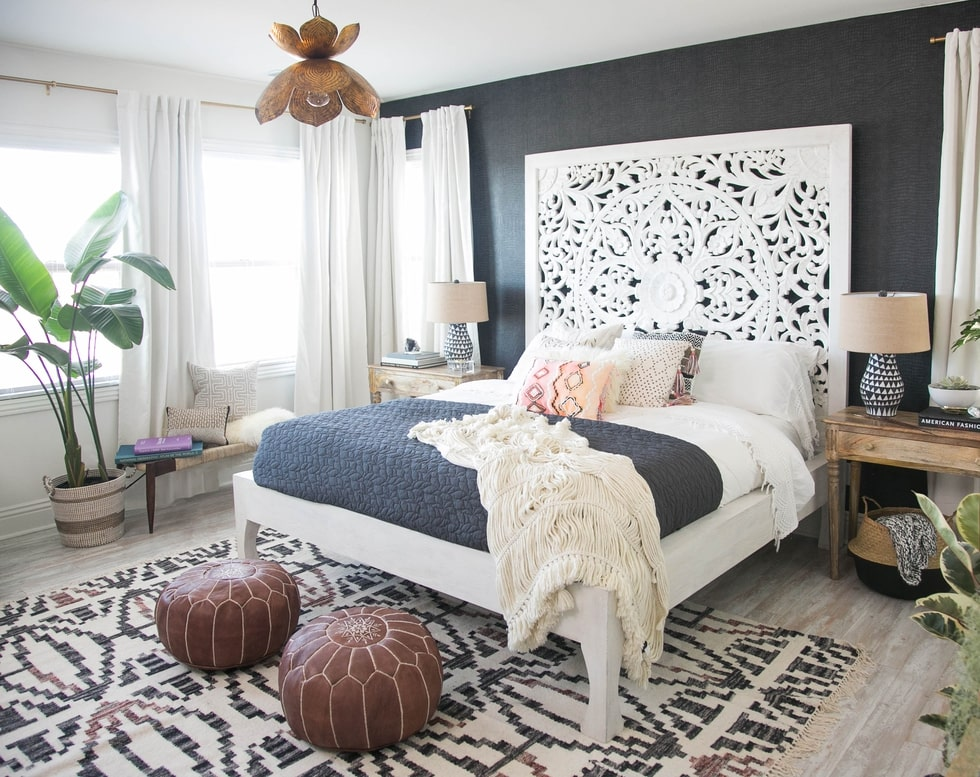 Amazing Boho Chic Master Bedroom Makeover By Ashley Redmond