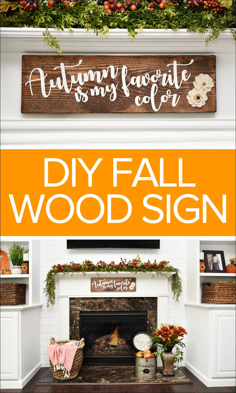 Fall Diy Wood Sign Using Cricut Vinyl Cutting Machine