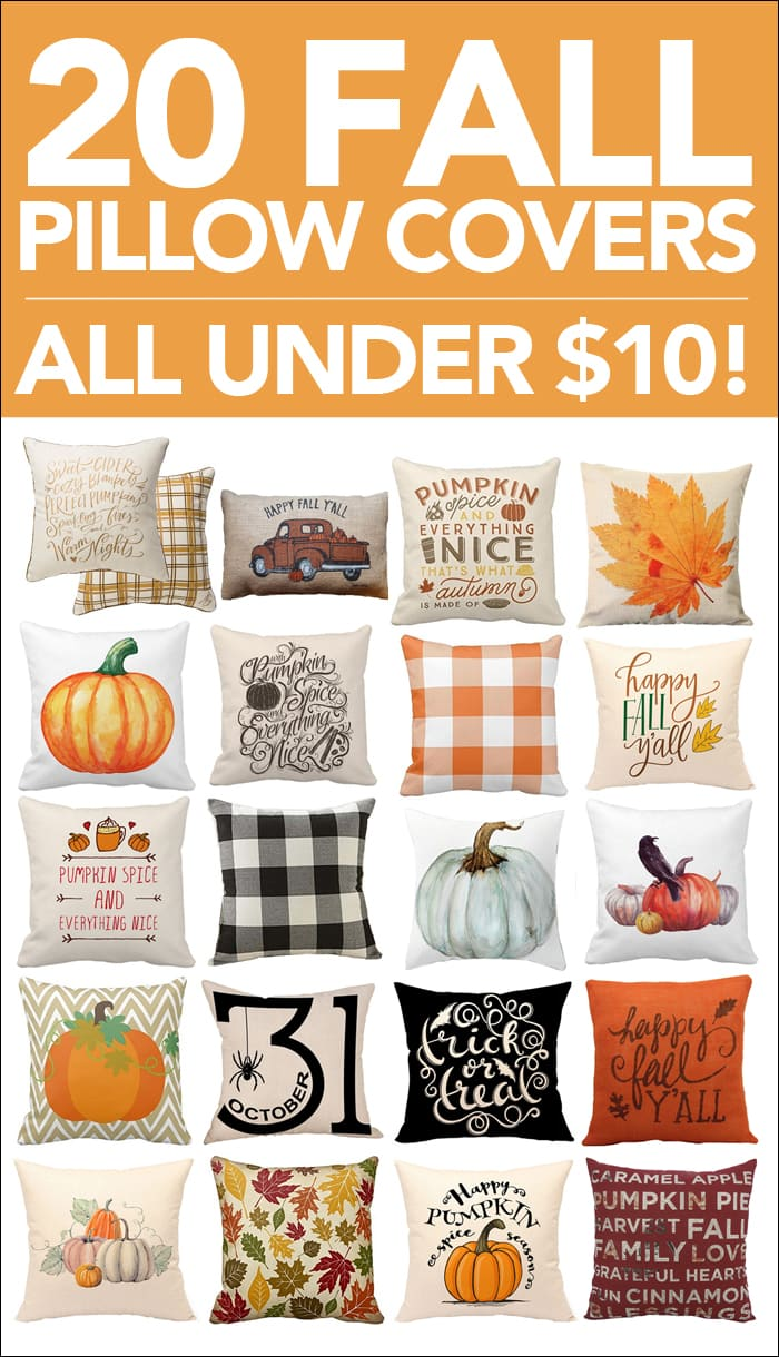 20 fall pillow covers poster.
