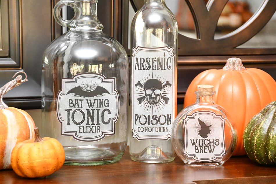 halloween bottle labels printable