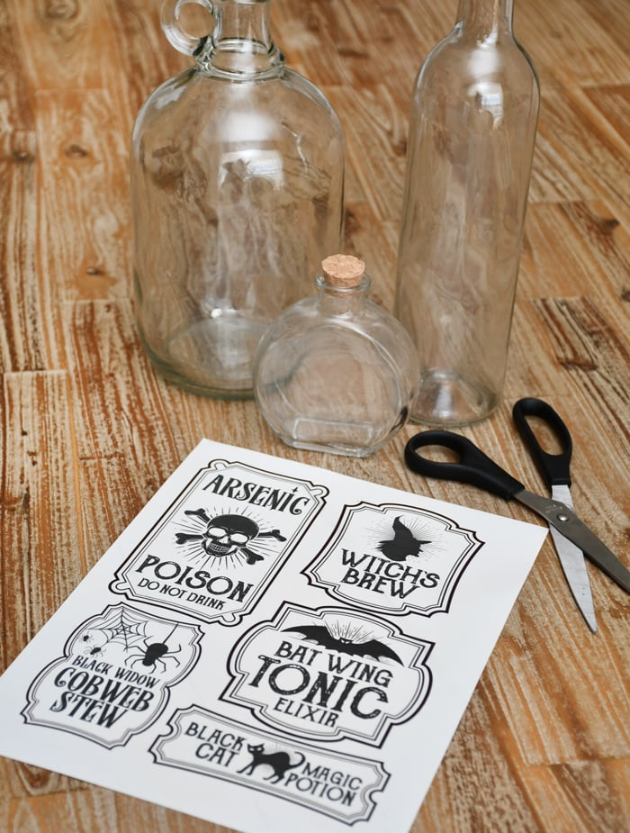 photo relating to Printable Halloween Labels referred to as Halloween Bottle Labels - Free of charge Printables - Potions Labels