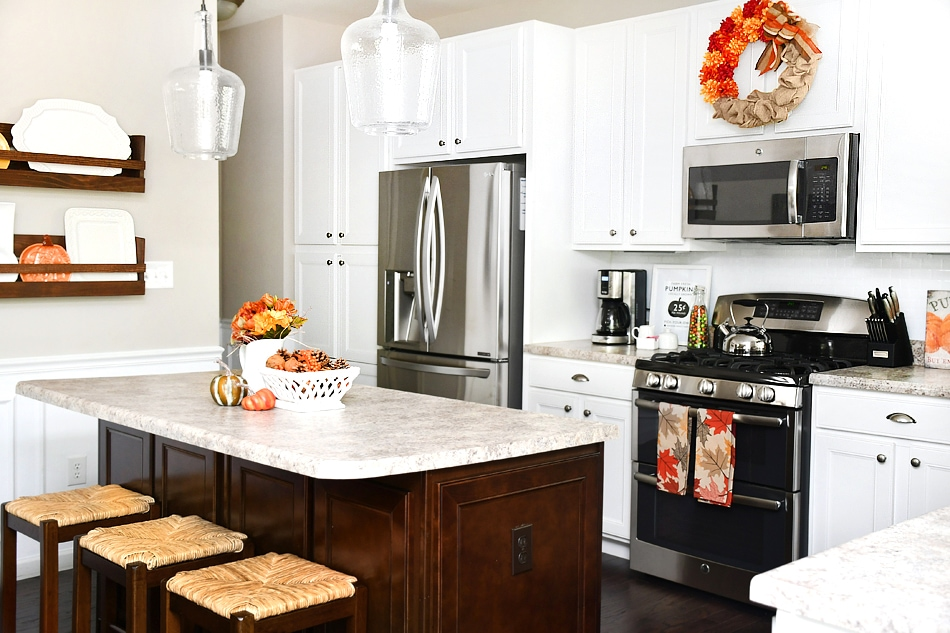 Adventures In Decorating Our Fall Kitchen: Kitchen Fall House Tour With Decorating Ideas And Projects
