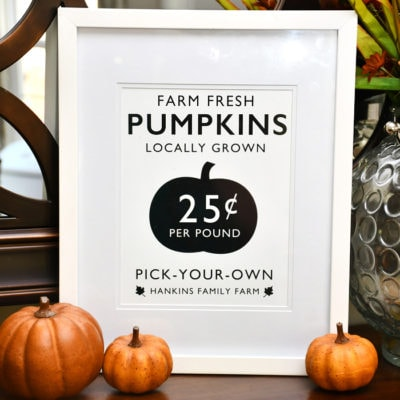 Pumpkin Farm Free Fall Printable