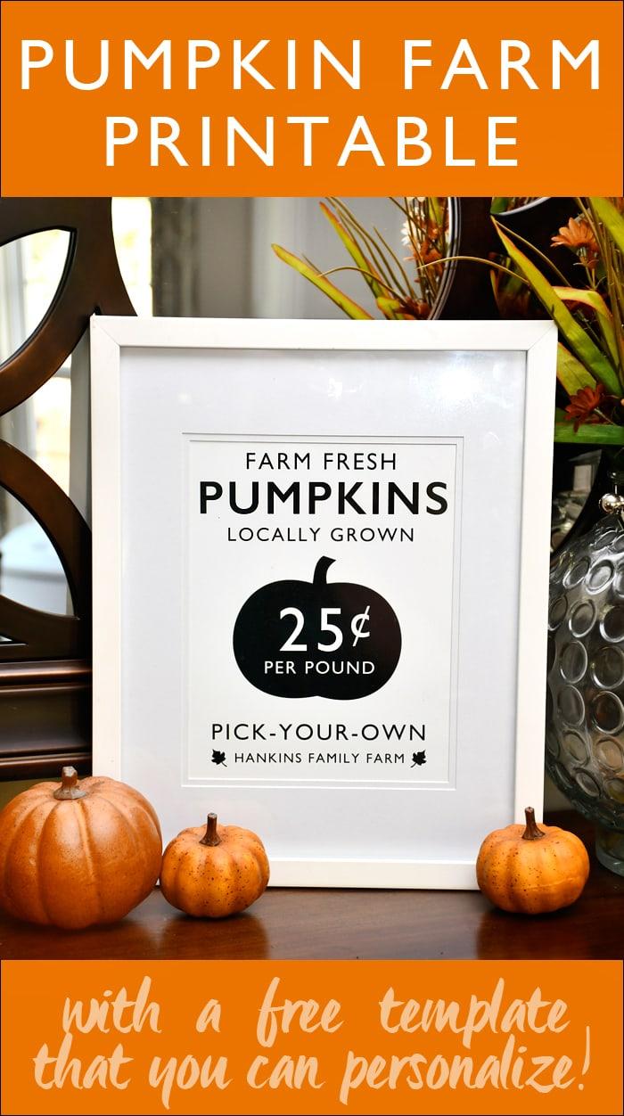 free pumpkin farm printable