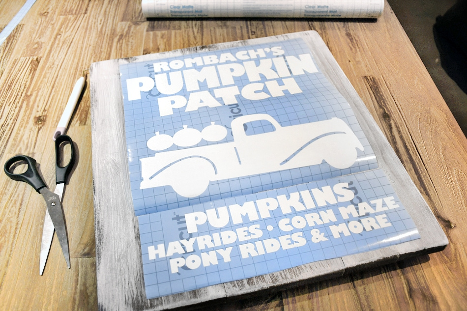 stenciled pumpkin patch sign
