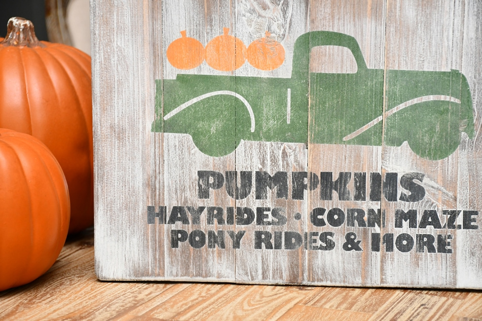 pumpkin farm wood sign