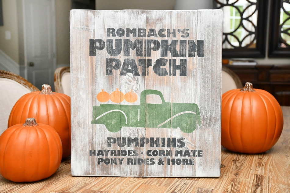rombachs pumpkin farm sign