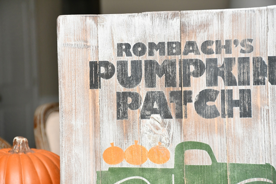 pumpkin farm sign rombachs
