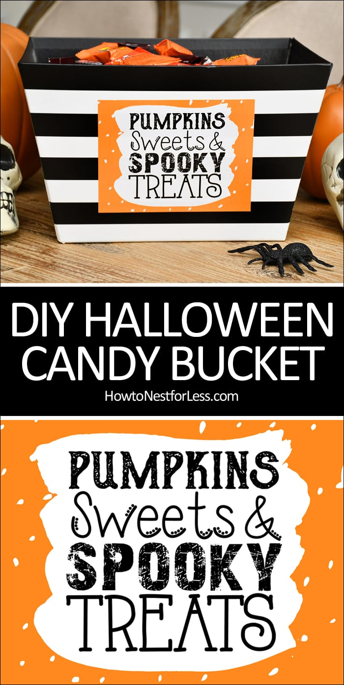 DIY Halloween candy bucket poster.