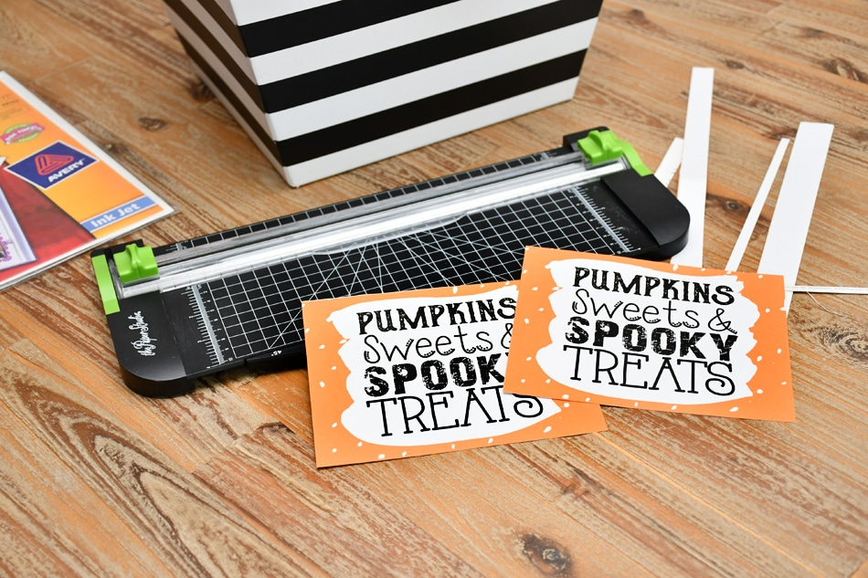 DIY Halloween candy bowl printable
