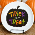 DIY Halloween Decorative Plate