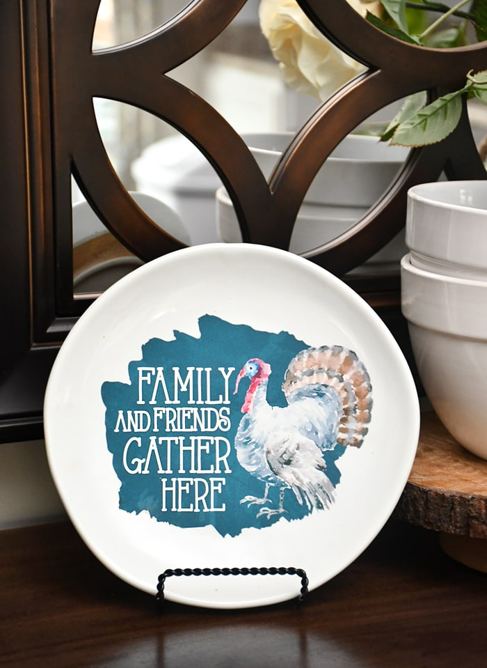 thanksgiving decorative plate