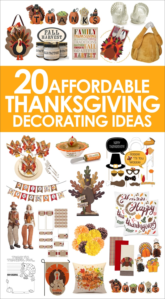 20 Affordable Thanksgiving Decorating Ideas - Fall Decor