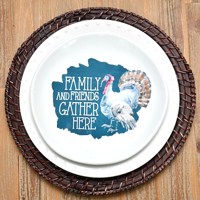 Ok guys next up will be a Christmas decorative plate. Of course Iu0027m thinking cookies for Santa but Iu0027m open to other ideas if youu0027ve got them!  sc 1 st  How to Nest for Less & DIY Thanksgiving Decorative Plate - Under $2 to Make!