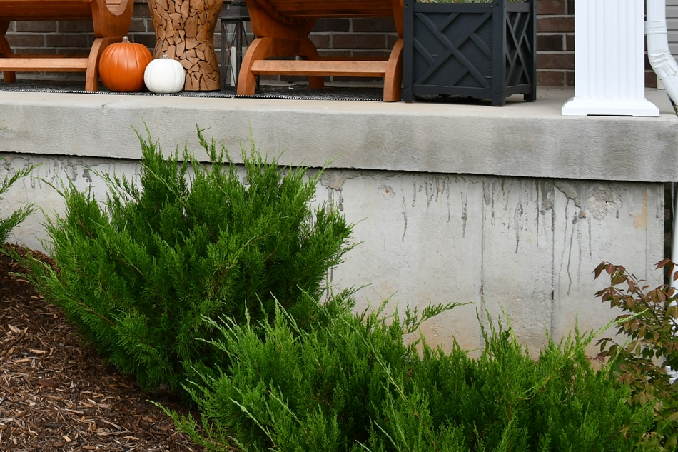 Airstone concrete foundation wall fake stone veneer on - Airstone exterior adhesive alternative ...