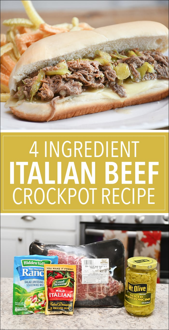 crock pot italian beef recipe