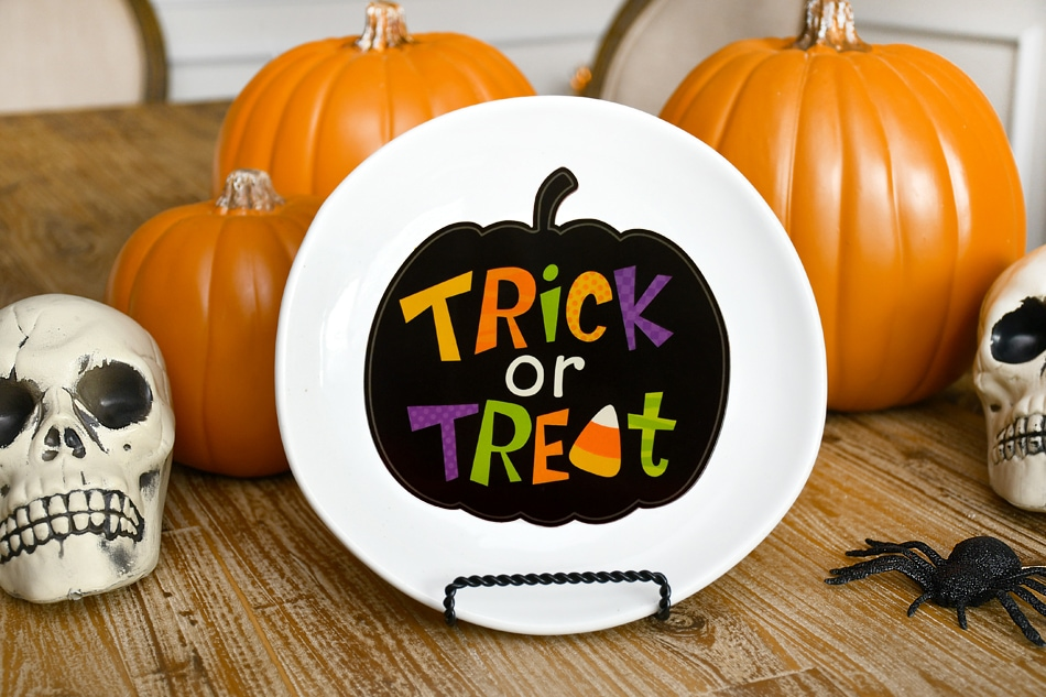 halloween decorative plate craft
