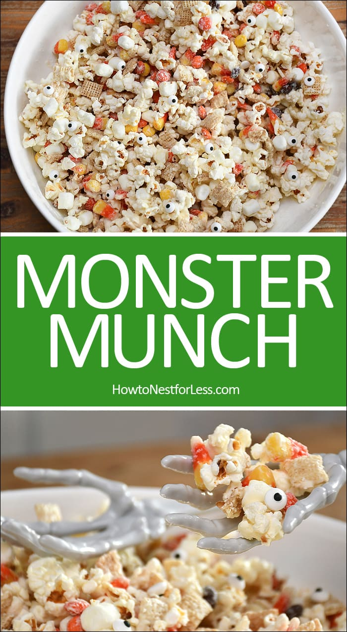 Monster munch recipe poster.