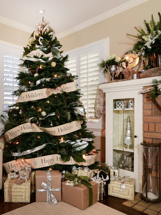 Christmas rustic tree