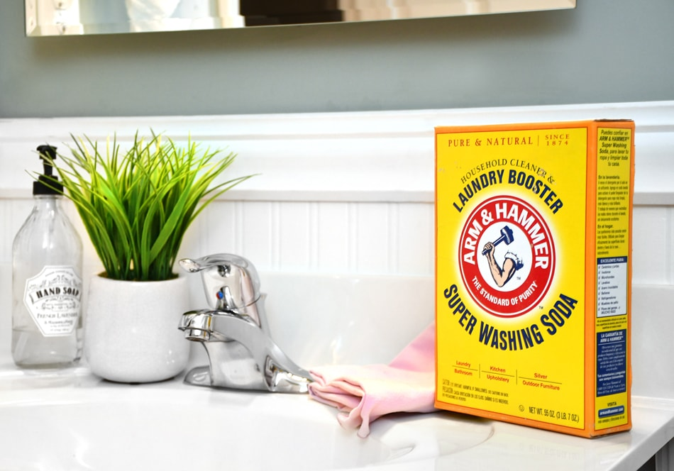 arm and hammer Super Washing Soda bathroom