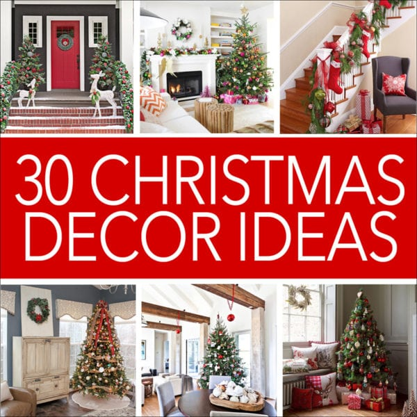 30 christmas decor ideas poster.