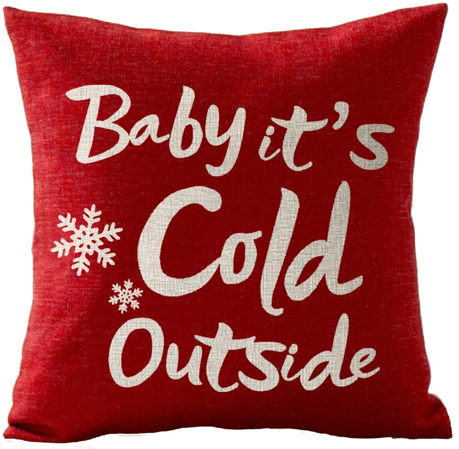christmas pillow cover cold outside