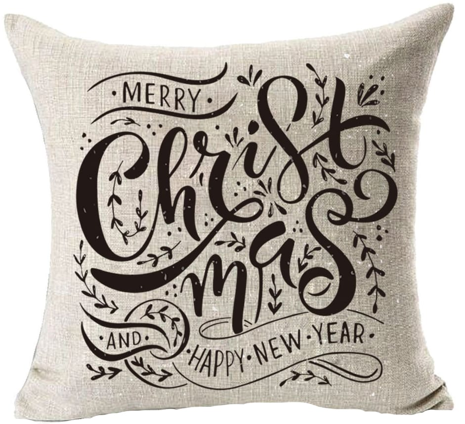 christmas pillow cover merry christmas