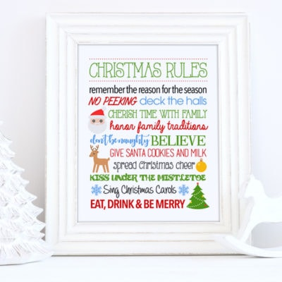 christmas rules printable