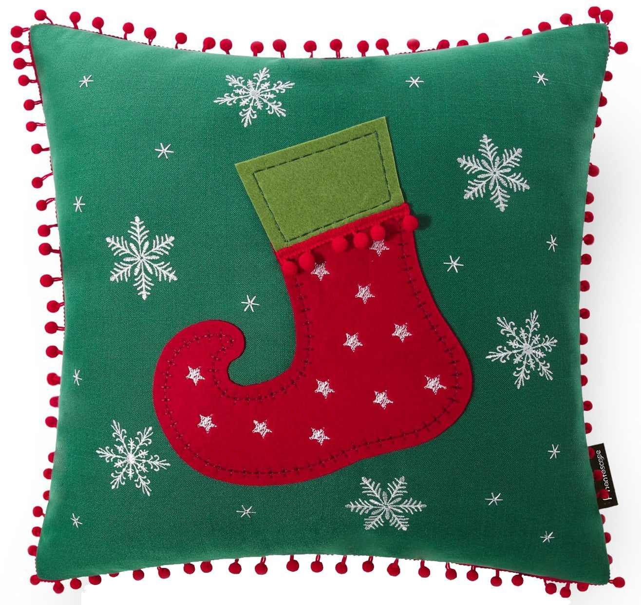 elf christmas pillow cover