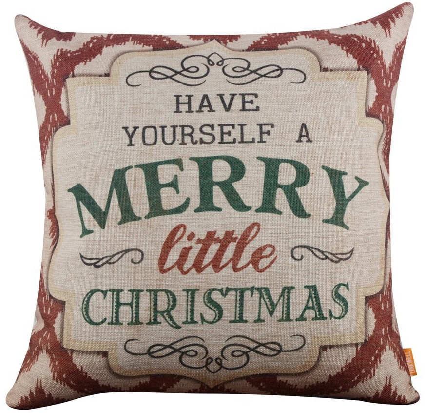 merry christmas pillow cover & 30 Christmas Pillow Covers for Under $13! - Holiday Pillow Covers pillowsntoast.com