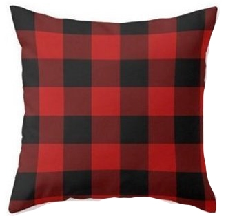red black buffalo check pillow cover