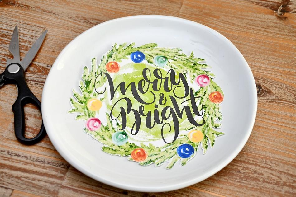 DIY christmas decorative plate