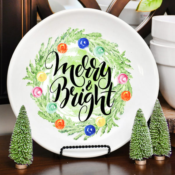 DIY Christmas Decorative Plate