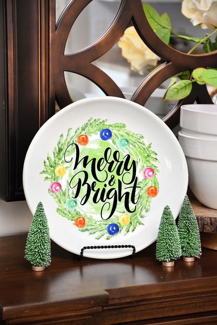 christmas DIY decorative plate