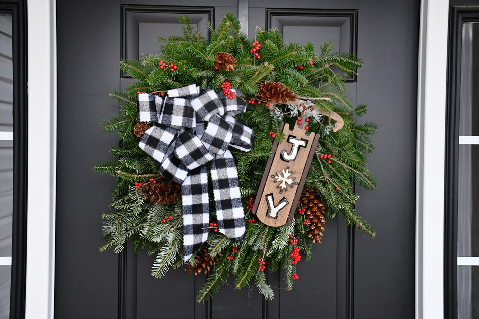 Buffalo Check Christmas Wreath.Christmas Buffalo Check Wreath How To Nest For Less