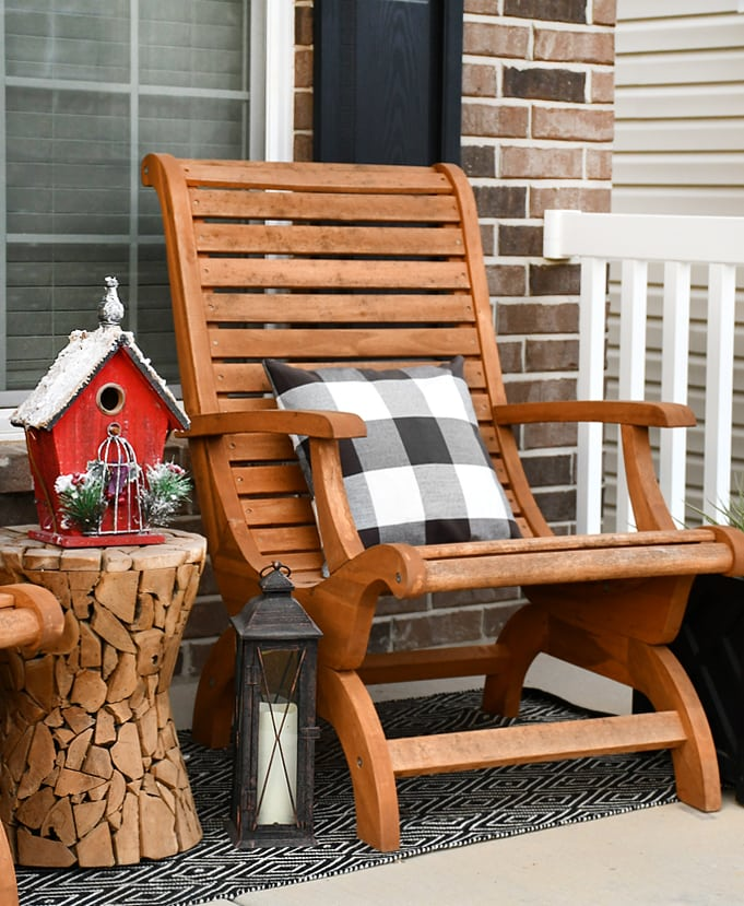 christmas front porch chairs