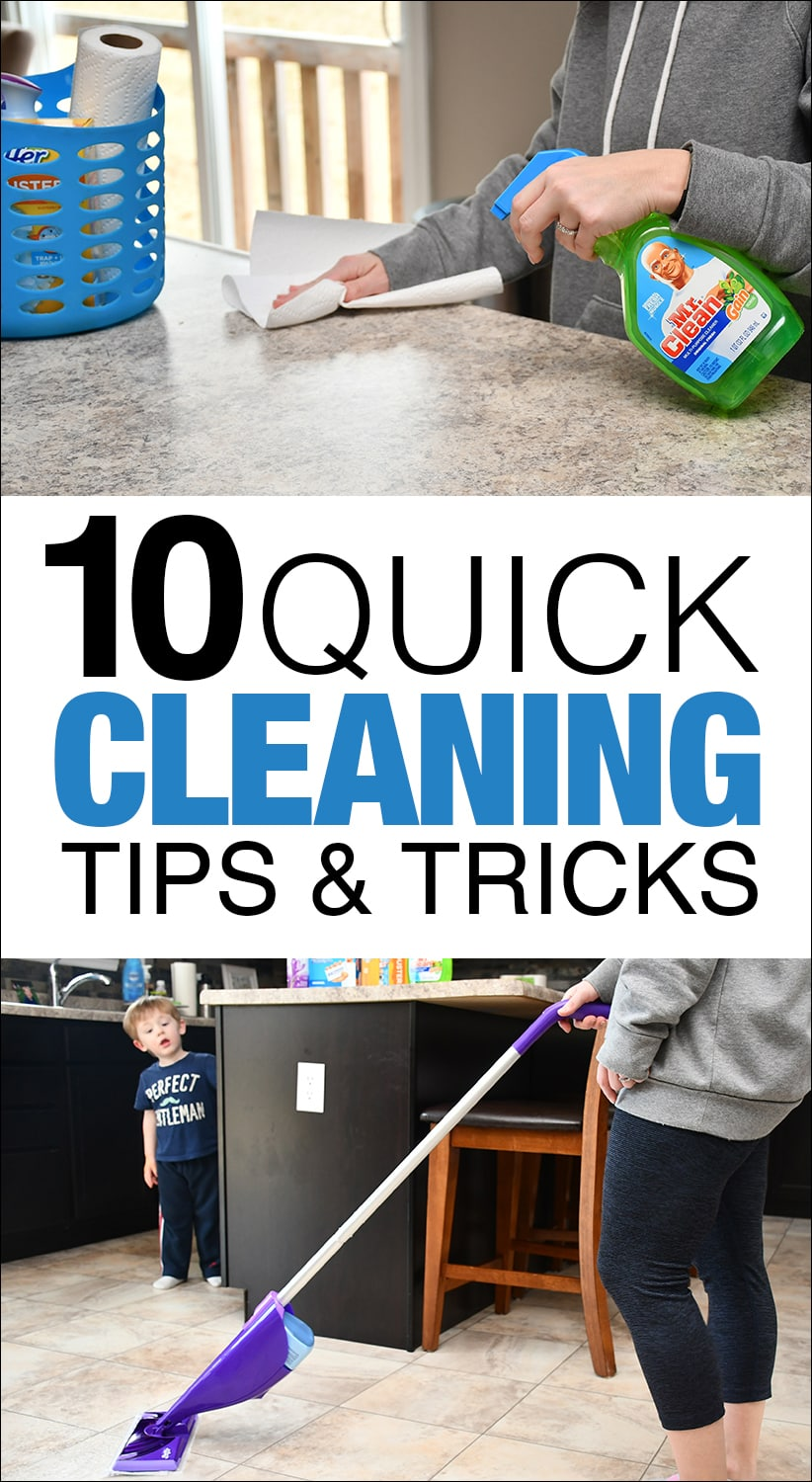 10 QUICK cleaning tips