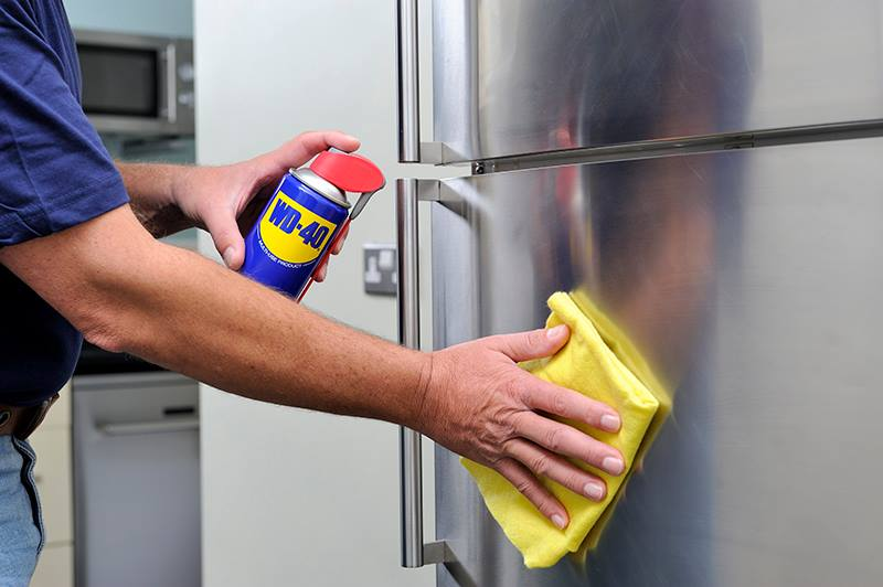 wd40 stainless appliances