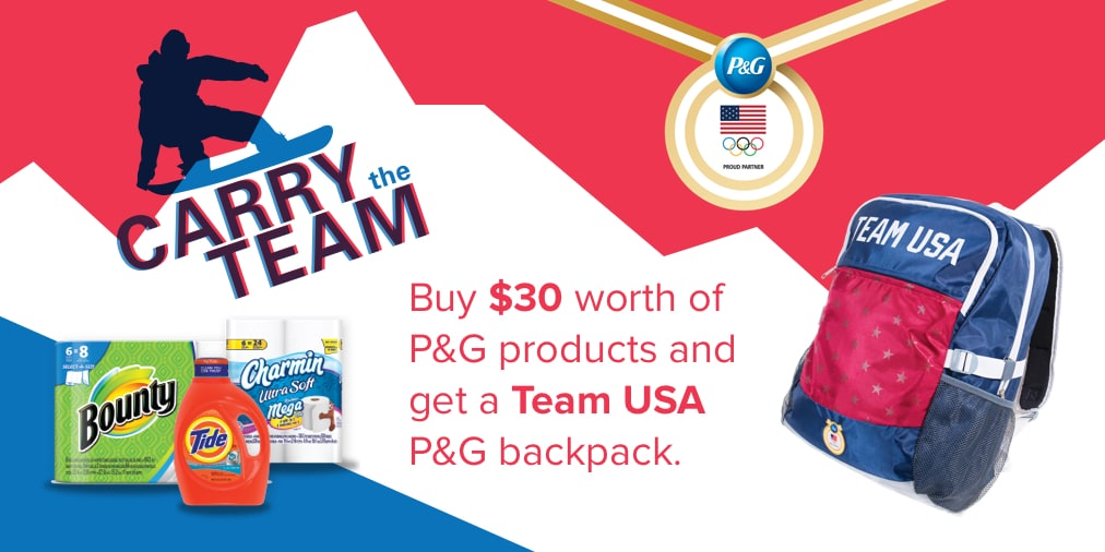 free Team USA P&G backpack