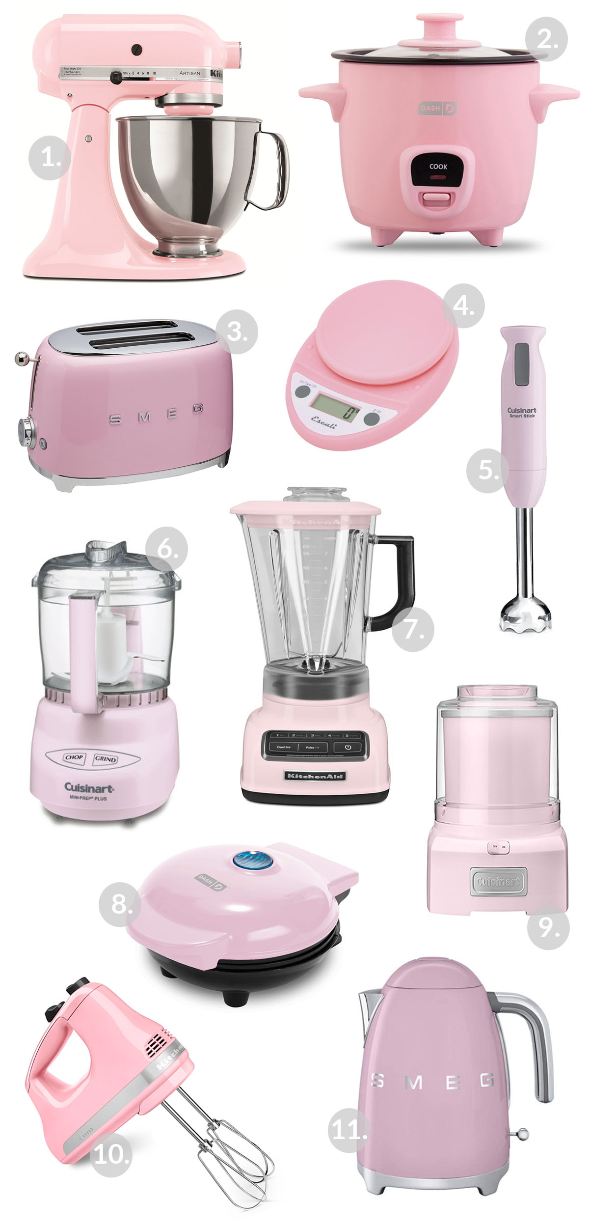 Pink Kitchen Appliances! Great for accessorizing a kitchen!