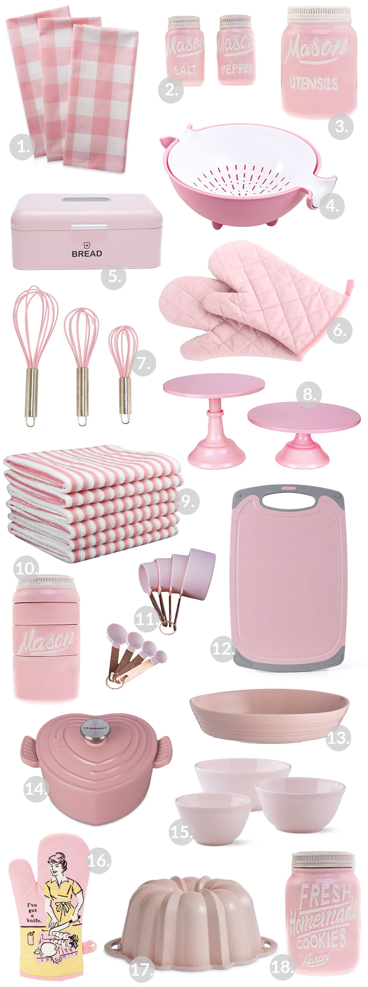 Pink Kitchen Gadgets! Great items to personalize a kitchen!