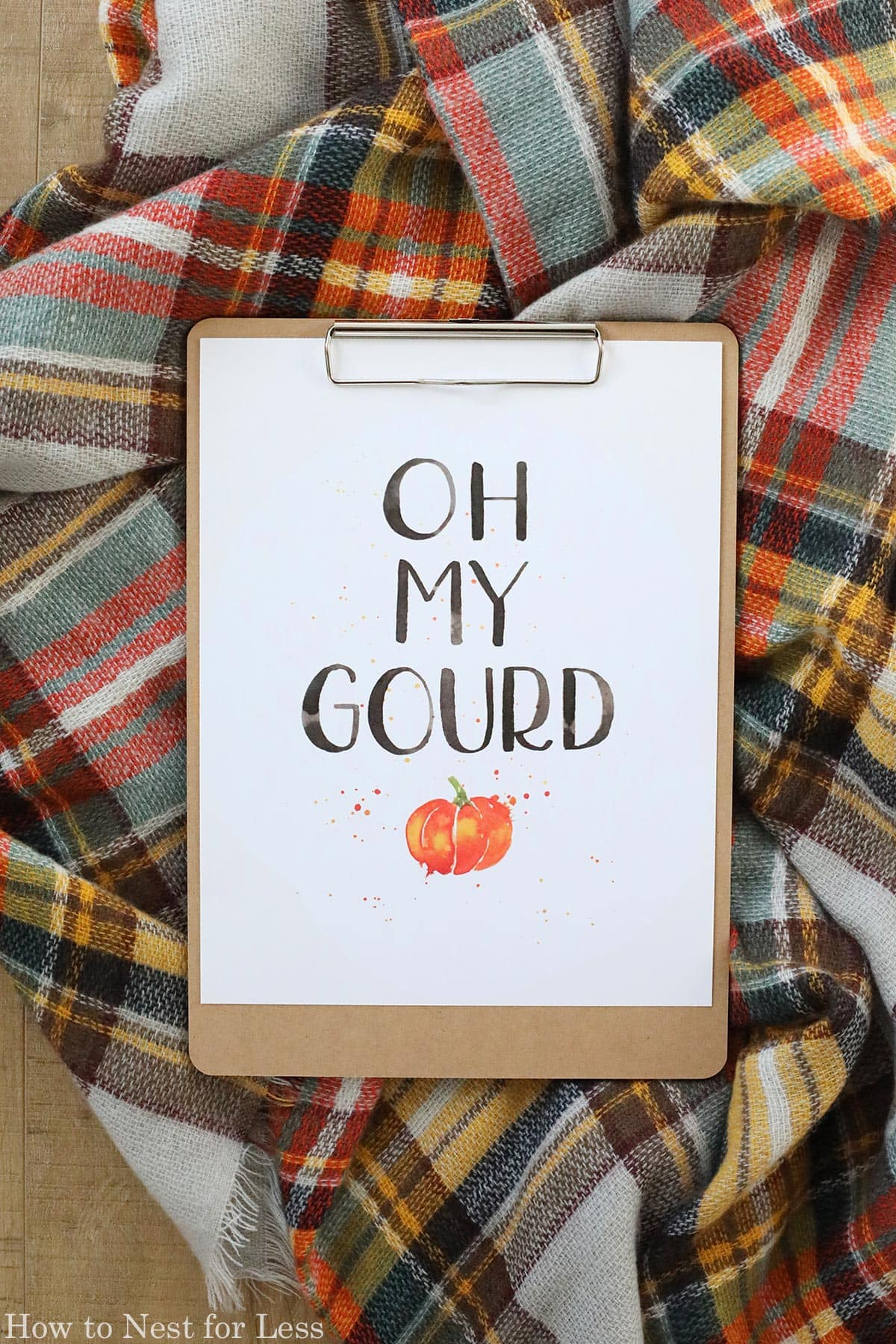 Oh My Gourd printable.