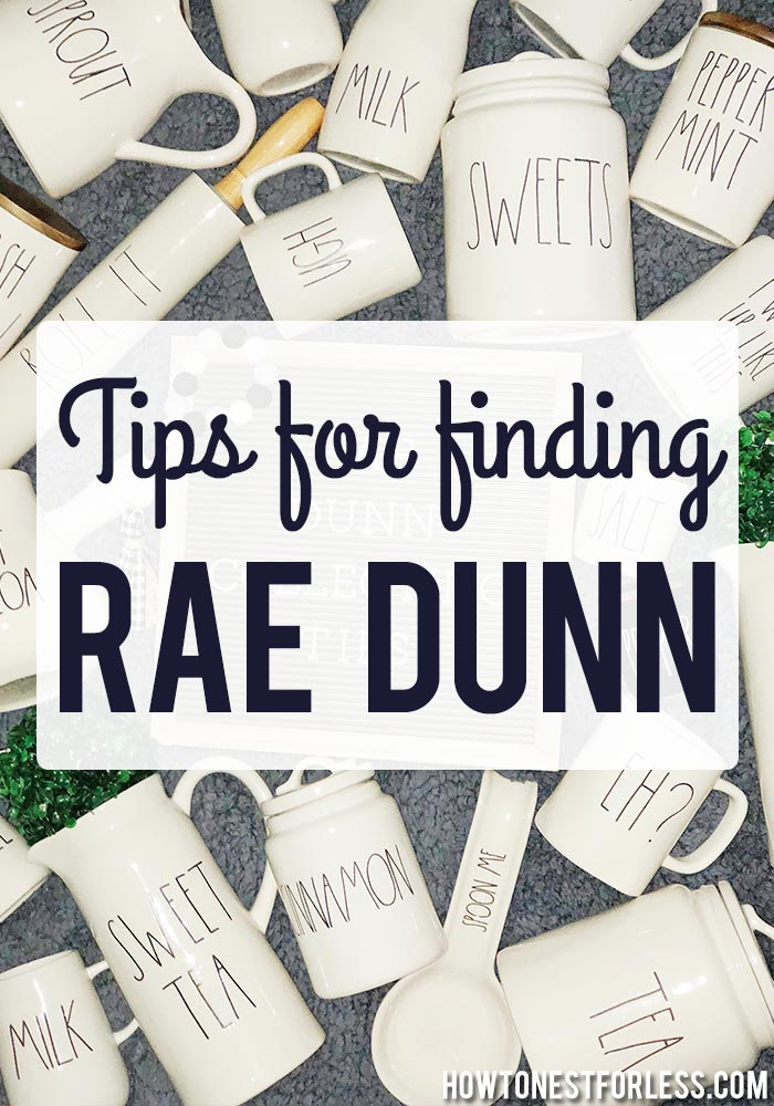 Tips for Finding and Collecting Rae Dunn Pottery