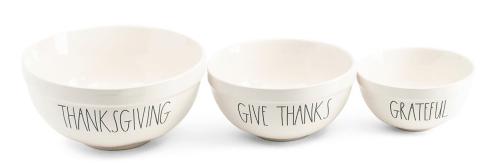 Thanksgiving mixing bowl set