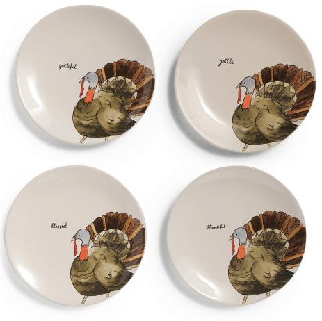 turkey words appetizer plates